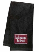 Lackawanna Railroad Embroidered Hand Towel Black [31]
