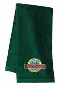 D & RGW Main Line Embroidered Hand Towel Forest Green [12]