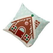 Yoyorule Vintage Christmas Bed Home Decoration Festival Pillow Case Cushion Cover