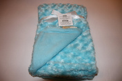 Blankets & Beyond Rosette Teal Baby Blanket 80cm x 80cm