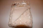 Blankets & Beyond Rosette Ivory Super Soft Baby Blanket 80cm x 80cm