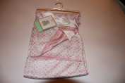 Jersey Reversible Baby Blanket Pink and White 80cm x 100cm