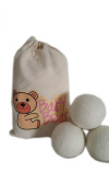 Baby Bear Handmade Large 100% New Zealand Wool Felt Dryer Balls** Chemical free and naturally softens laundry~save time and energy** Reusable dryer balls~~ add essential oils for scented laundry