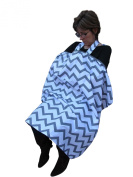 Chevron Privacy Nursing Breastfeeding Breast Feeding Cover One Size Fits All Long Strap Coverup Poncho