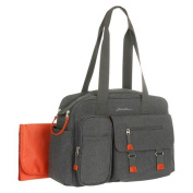 Eddie Bauer First Adventure Benson Duffle Nappy Bag - Grey/Orange