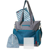Fisher-Price Athleisure Teal and Grey Nappy Bag