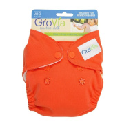 GroVia All In One Cloth Nappy - Persimmon - Newborn - Snap