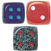 Tutti Frutti, Speckle and Silk Dice Assortment - Set of 25