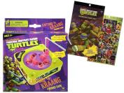 Let's Go Fishing with Teenage Mutant Ninja Turtles! Capture the KRAANG Mini Fishing Game! Plus Bonus TMNT 4 Sheet Sticker Pad!
