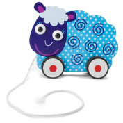 Wooden Wonders Push-n-Pull Swirly Sheep - Large Size!