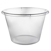 Party Essentials N412590 Hard Plastic Ice Bucket, Clear, Extra-Large