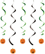 Creative Converting 5 Count Pumpkin Faces Dizzy Danglers, Orange