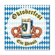 Club Pack of 192 Multi-Coloured German Oktoberfest 2-Ply Luncheon Napkins