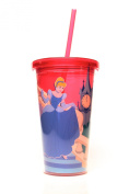 Disney Silver Buffalo DQ73087 Princess Cinderella Midnight Plastic Cold Cup, 470ml, Multicolor