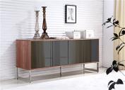 Casabianca Home TC-0128-WAL Cuadro Collection Buffet, Walnut Veneer