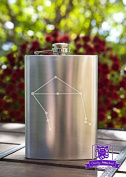 Libra Constellation 240ml Stainless Steel Flask
