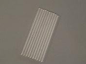 """Pack of 12 Glass Mix Rod, 6"""" Long, 6 Mm Diameter Mixer Bar"""