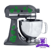 Ladybug Patterned Kitchen Stand Mixer Front/Back Decal Set - Green