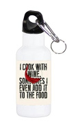 I Cook With Wine Art 590ml Stainless Water Bottle by MWCustoms