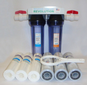 1.9cm Port Dual Stage Whole House Water Filtration System with Sediment & CTO Filters
