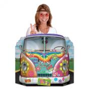 Beistle Hippie Bus Photo Property, 0.9m by 60cm , Multicolor