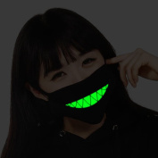 ZWZCYZ Men and women Boys and Girls Cotton Teeth Luminous Anti-Dust Mouth face Mask Anime Halloween Gift Cosplay