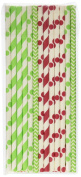 Merry Christmas Gift Straws, Holiday Favours, Cake Pop Sticks, Christmas Decorations, Candy Cane Red Stripe & Christmas Tree Green Straws