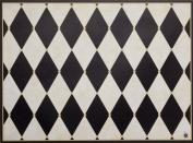 di Potter CH113 Paris Design Reversible Paper Placemat, Parchment and Black, 30cm x 41cm - 0.6cm