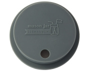 Silicone Fermentation Lid and Straw Hole Tumbler for Wide Mouth Mason, Ball, Canning Jars
