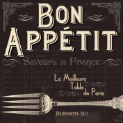 Paperproducts Design 1331100 Luncheon/Buffet Napkin, 17cm by 17cm , French Bon Appetit