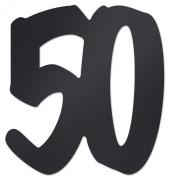 "Beistle 54110-50 ""50"" Foil Silhouette, 12-Inch, Black"