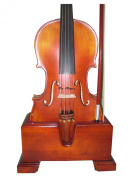 Vio Music Violin and Bow Wooden Holder (Stand), Plush Velvet, Safe and Stronghold
