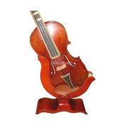 Vio Music Violin and Bow Wooden Holder (Stand), Great Design, Safe and Stronghold