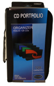PSWholesale 128 Capacity CD Storage Wallet Case Organiser - Ideal for all CD Formats - CD Portfolio - MultiColor