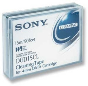 Sony DDS / DAT-72 4mm Cleaning Tape, Part # DG15CL For DDS-1, DDS-2, DDS-3, DDS-4 and DDS-5/ DAT-72 Drives
