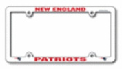 New England Patriots Official NFL 30cm x 15cm Plastic Licence Plate Frame by Rico Industries
