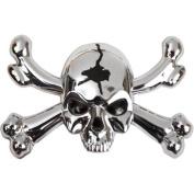 Auto Drive Skull Emblem, Chrome