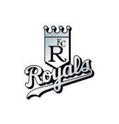 Caseys Distributing 8162053144 Kansas City Royals Silver Auto Emblem