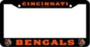 Cincinnati Bengals Official NFL 30cm x 15cm Plastic Licence Plate Frame by Rico Industries