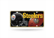 Pittsburgh Steelers Official NFL 30cm x 15cm Metal #1 Fan Licence Plate by Rico Industries