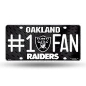 Rico Industries & GTEI Oakland Raiders Licence Plate - #1 Fan