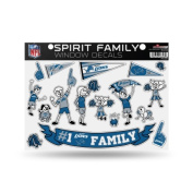 Detroit Lions Official NFL 28cm x 28cm Large Family Car Decal Sheet by Rico Industries