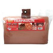 Heavy Duty Brown and Tan Tarp, 3m x 4.9m