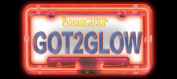 PlasmaGlow 10122 Neon Licence Plate Frame - GREEN