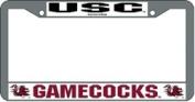 Caseys Distributing 9474603804 South Carolina Gamecocks Chrome Licence Plate Frame