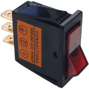 Battery Doctor 20532 On/Off Illuminated 20A Red Rocker for 12mm x 30mm Slot