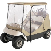 Budge Golf Cart Cover Vision Guard Fits 2-Person Golf Carts, UTV-910, Tan Polyester