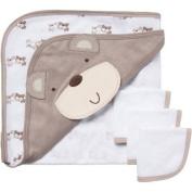 Gerber Newborn Baby Neutral 4 Piece Bear Bath Set