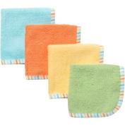 Gerber Newborn Baby Neutral Solid Woven Washcloths - 4 Pack