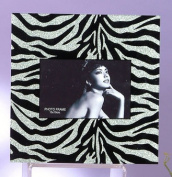 Unison Gifts HMA-942 Silver Zebra Print Glitter Picture Frame